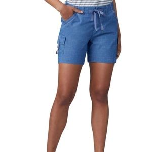 Lee Mid Rise Solid Regular Cargo Shorts
